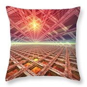 Space Portal To The Stars Throw Pillow