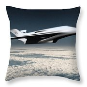 Space Transport Throw Pillow