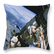 Spacewalk Throw Pillow