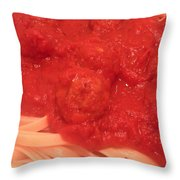 Spaghetti And Meatballs Throw Pillow by Michael Merry