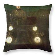 Spain: Automobile, 1909 Throw Pillow