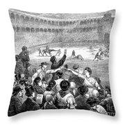 Spain: Bullfight, 1875 Throw Pillow
