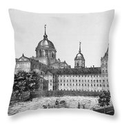 Spain: El Escorial, C1860 Throw Pillow