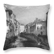 Spain: Grenada, 1833 Throw Pillow