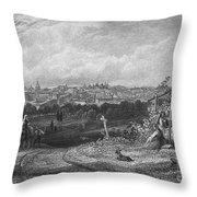 Spain: Madrid, 1833 Throw Pillow