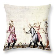Spain: Medieval Ballgame Throw Pillow