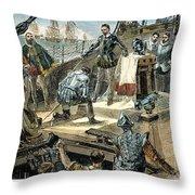 Spanish Armada Throw Pillow by Granger