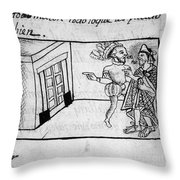 Spanish Conquest Throw Pillow