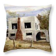 Spanish Mansion Throw Pillow