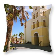 Spanish Mission In Todos Santos Throw Pillow