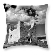 Spanish Mission Ruins Of Quarai Nm Throw Pillow by Christine Till