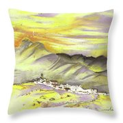 Spanish Mountain Village 01 Throw Pillow