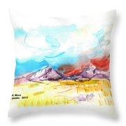 Spanish Peaks Study Throw Pillow