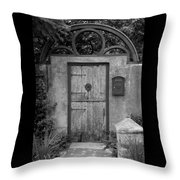 Spanish Renaissance Courtyard Door Throw Pillow