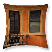Spanish Steps Balcony Rome Italy Throw Pillow