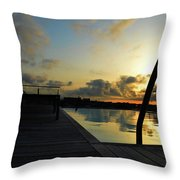 Spanish Sunrise Throw Pillow