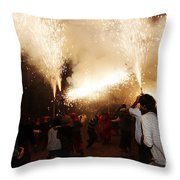 Spark Tree Throw Pillow