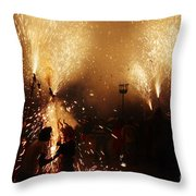 Sparked Throw Pillow
