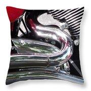 Sparkling Curved Chrome  Throw Pillow