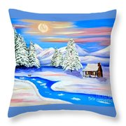 Sparkling Winter Throw Pillow