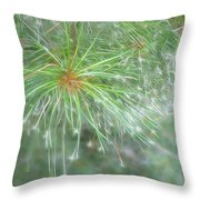 Sparkly Pine Throw Pillow
