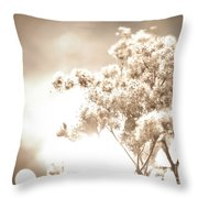 Sparkly Weeds In Sepia Throw Pillow