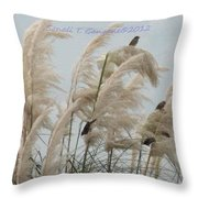 Sparrows In Breeze Throw Pillow