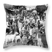 Sparta Greece - Street Scene - C 1907 Throw Pillow