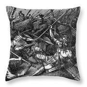 Spartacus (d.71 B.c.) Throw Pillow