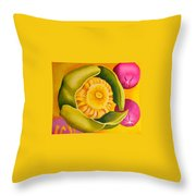 Spatterdock - Panel 1 Of 3 Throw Pillow