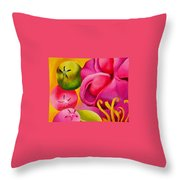 Spatterdock - Panel 2 Of 3 Throw Pillow