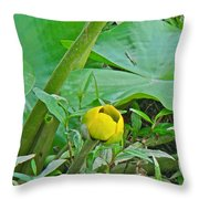 Spatterdock Wild Yellow Water Lily - Nuphar Lutea Throw Pillow