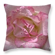 Spattered Pink Promises Throw Pillow