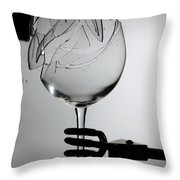 Speaker Breaking A Glass With Sound Throw Pillow