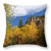 Spearfish Canyon Fortress In Rock Throw Pillow