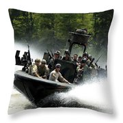Special Forces In A High-speed Combat Throw Pillow
