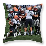 Special Teams Drill Throw Pillow