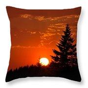 Spectacular Sunset II Throw Pillow