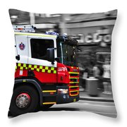 Speed In The City Throw Pillow