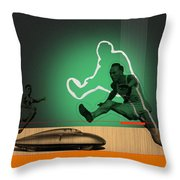 Speed Monsters Throw Pillow