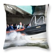 Speedboat Throw Pillow