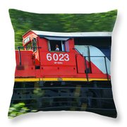 Speeding Cn Train Throw Pillow