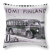 Speedy Old Bus Throw Pillow
