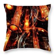 Spherical Lamps Throw Pillow