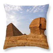 Sphinx Of Giza Throw Pillow