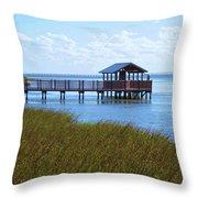 Spi Birding Center Boardwalk Throw Pillow