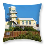 Spi Birding Center From The Boardwalk Throw Pillow