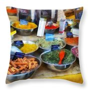 Spice Stand Throw Pillow