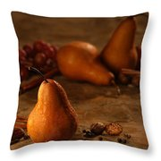 Spiced Pears Throw Pillow