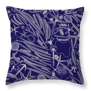 Spicules Of Marine Sponges, Etc. Lm Throw Pillow